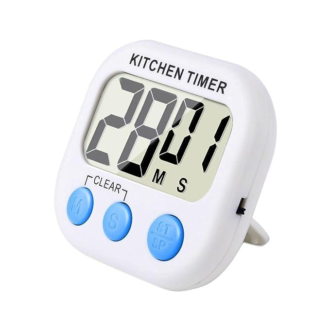 134 opinioni per Magnetico Digitale Timer Da Cucina Con Allarme Forte e Ampio Display LCD (Bianco