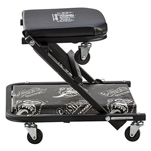 Gas Monkey Z Creeper Mechanic Seat - Six Rolling Casters with 300 Lbs Capacity for Automotive Car Garage by Gas Monkey (Image #4)
