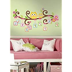 Lunarland HAPPI SCROLL TREE LETTERS BRANCH 98 BiG Wall Decals Owls Room Decor Stickers ABC