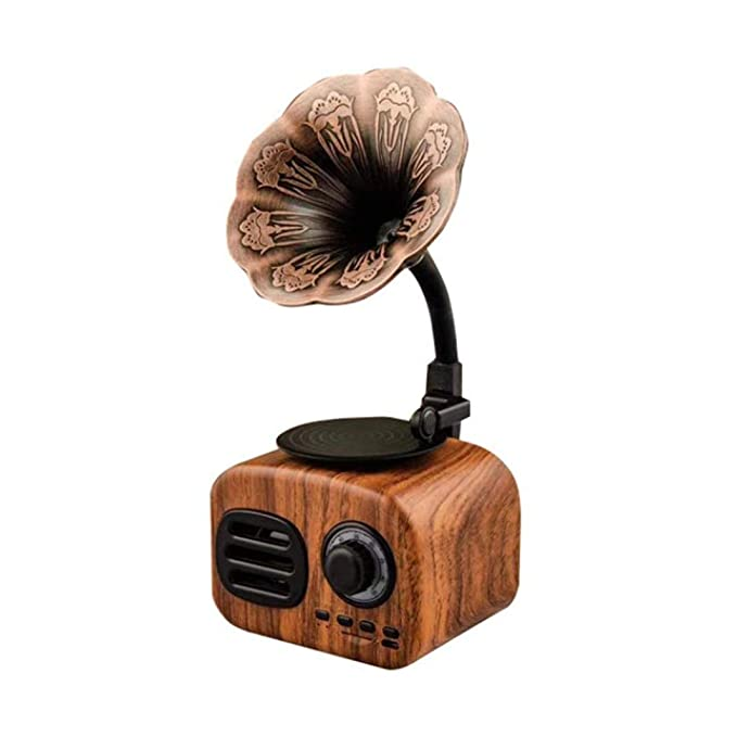 YWAWJ Altavoz retro gramófono Bluetooth Tocadiscos Turnable radio ...
