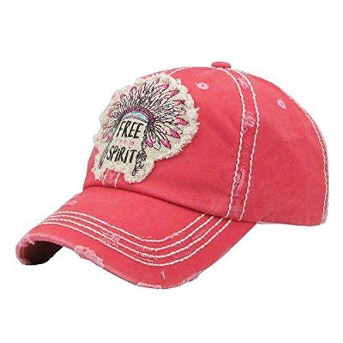 HBS001 Free Spirit Pink Washed Cotton Vintage Ball (Spirit Dancer Earrings)