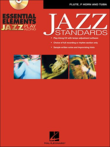 Hal Leonard EE Jazz Play Along: Jazz Standards Flute, F Horn And Tuba Book/CD-Rom