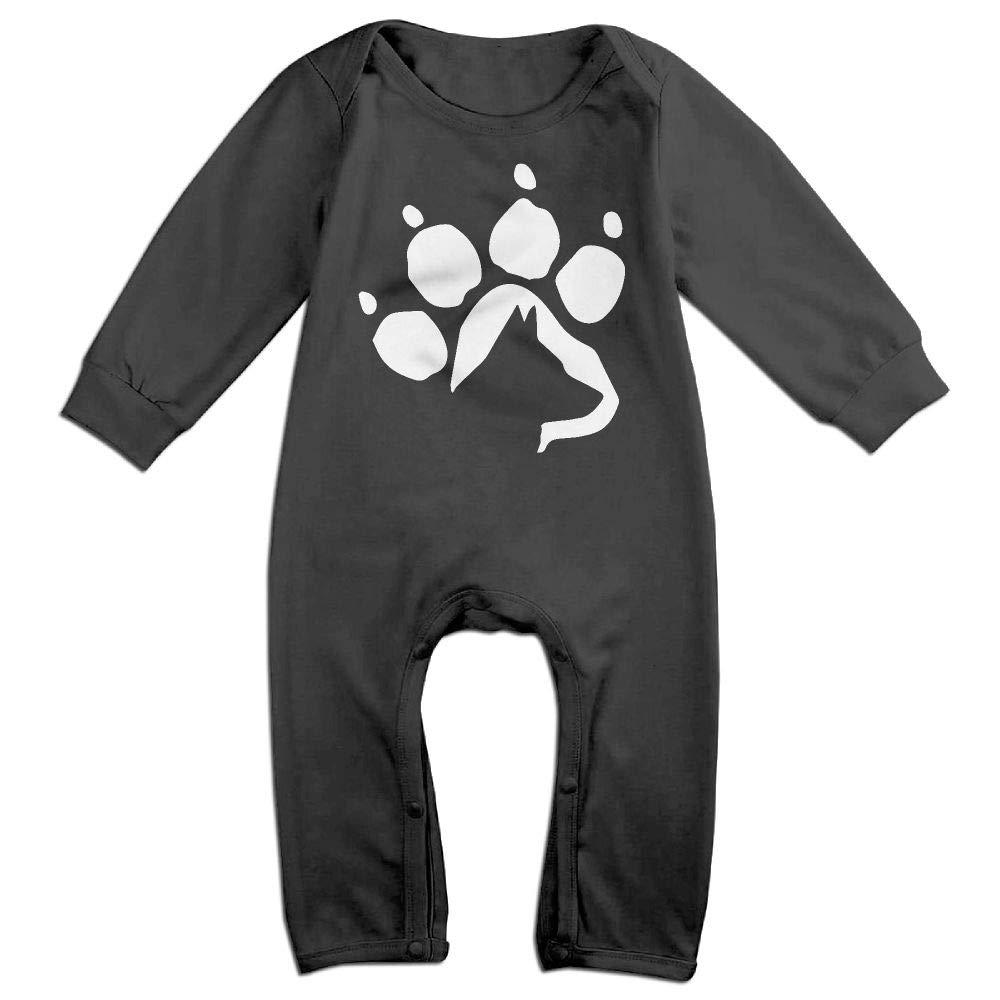 German Shepherd Dog Paw Long Sleeve Newborn Baby Bodysuit for 6-24 Months Bodysuit