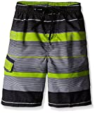 Kanu Surf Boys' Big Quick Dry UPF 50+ Beach Swim Trunk, Specter Charcoal, 18/20