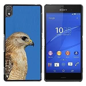 YOYOYO Smartphone Protección Defender Duro Negro Funda Imagen Diseño Carcasa Tapa Case Skin Cover Para Sony Xperia Z3 D6603 D6633 D6643 D6653 D6616 - azul halcón de oro pico cazador marrón