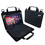 UZBL EVA Always On Work-in Protective Laptop Sleeve and Case with Carrying Handle and Strap for 11-11.6 inch Chromebook, Ultrabook and Notebooks, Designed for Students, Classrooms and Business