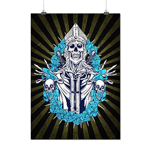 Hannibal King Costume (Skull King Death Horror Matte/Glossy Poster A2 (60cm x 42cm) | Wellcoda)