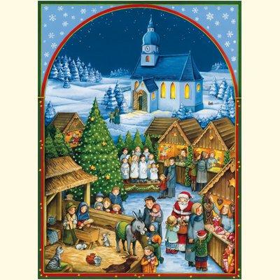 Weihnachtlicher Kirchplatz