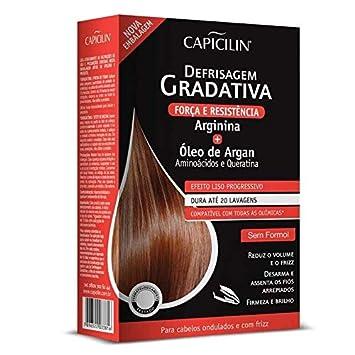 Linha Defrizagem Gradativa Capicilin - Kit Profissional Arginina + Oleo Argan: Shampoo 300 Ml +