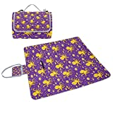 ALIREA Cartoon Marine Octopus Pattern Picnic Blanket Tote Handy Mat Mildew Resistant and Waterproof Camping Mat for Picnics, Beaches, Hiking, Travel, RVing and Outings