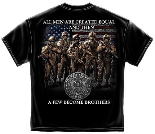 US Army Short Sleeve Shirts, 100% Casual Men's Shirts, Show Your Pride with our US ARMY Brotherhood Unisex T-Shirts for Men or Women (Medium) (Joe Army T-shirt)
