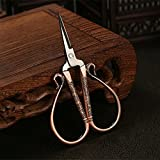 Jiansy European Vintage Stainless Steel Tailer Sewing Scissors For Clothing Fabric Craft DIY Accessories Red bronze