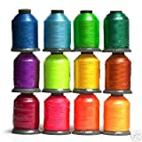 12 Spools BRIGHT Embroidery Machine Thread