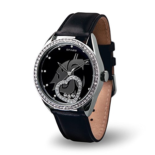 Cougars Womens Watch (NCAA Washington State Cougars Beat Watch, Black)