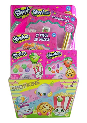 Shopkins Easter Gift Basket with Jelly Beans, Candy Characters, and Toys, 1.6 (Easter Basket For Girls)