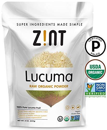Organic Lucuma Powder by Zint: Paleo Certified, Non GMO, Lucuma Fruit Superfood - Fiber, Calcium Vitamin B1, B2, C - Sweet Creamy Flavor for Amazing Smoothies (8 oz)