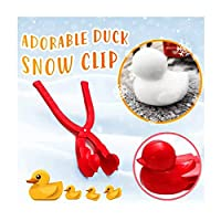 Hide on bush Cartoon Duck Snowball Maker Toys,Snowball Maker Clip Outdoor Sports Snow Sand Mold for Kids, Children Snow Ball Fights,Winter Outdoor Activities ,Super Joy