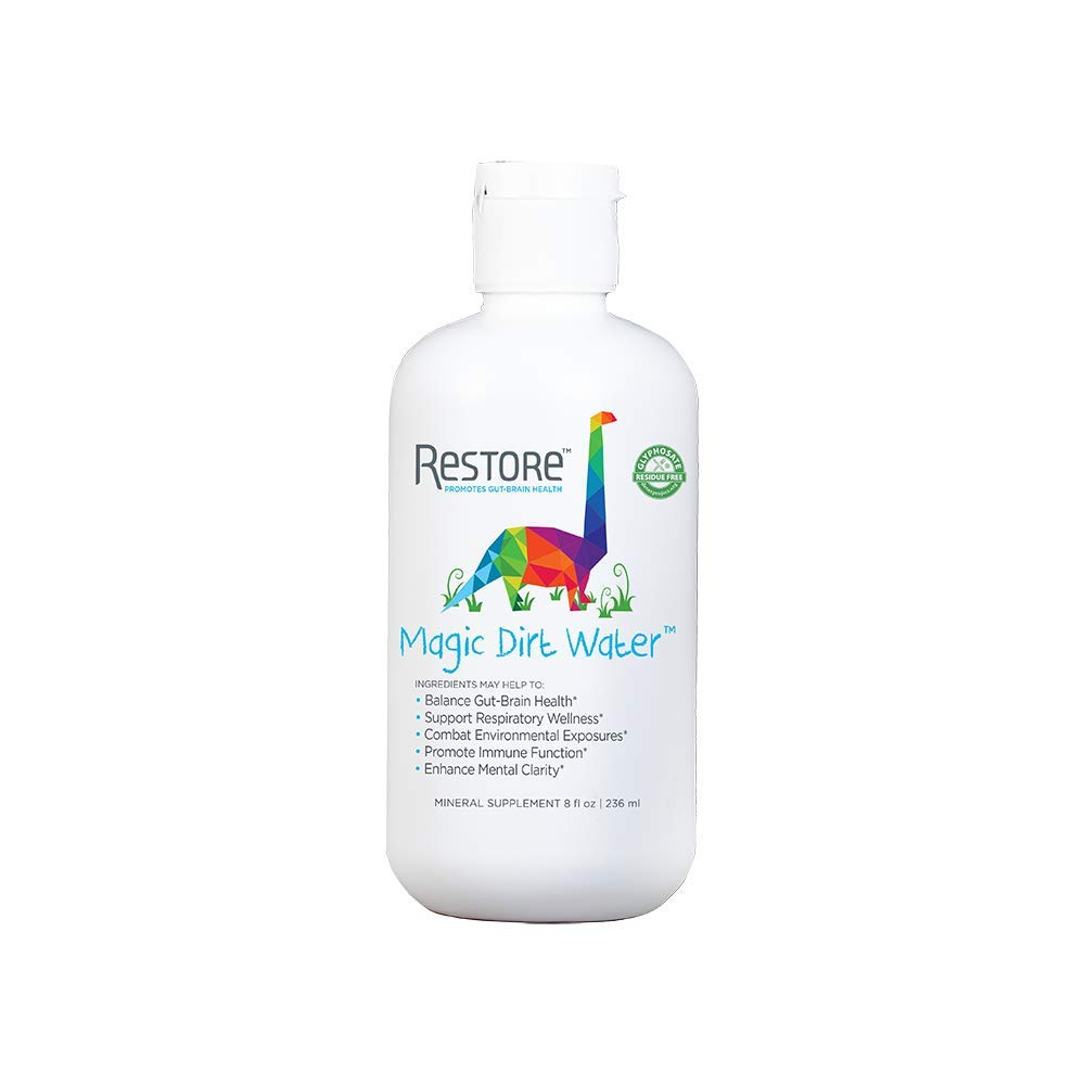 Restore Magic Dirt Water for Kids' Gut Health | Restore 4 Life Terrahydrite Humic Substances for Digestive Wellness, Immune Function, Protection from Environmentals, Mental Clarity | 8 Ounce Kids