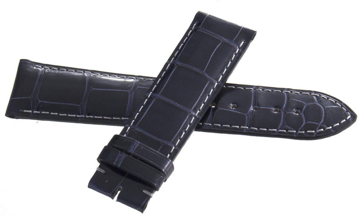 Genuine Longines 22mm x 20mm Dark Blue Alligator Leather Watch Band Strap L682118123