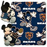 disney chicago bears - The Northwest Company 1 Pc, Chicago Bears Blanket Disney Hugger With Graphics & Team Logo, Along With Mickey Himself, 40