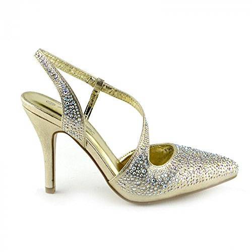 Gold Shoes Gold novia Kick Footwear Ladies Sandalias de Kick plateadas Footwear Slingback wP16xqvB