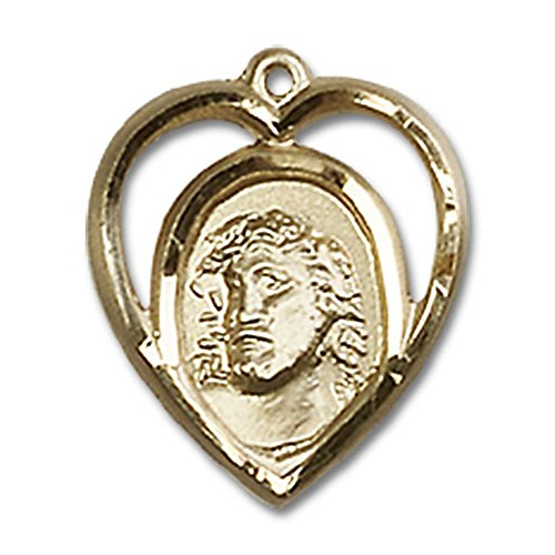 14kt Yellow Gold Ecce Homo Medal 5/8 x 1/2 inches (Ecce Homo 14kt Medal)
