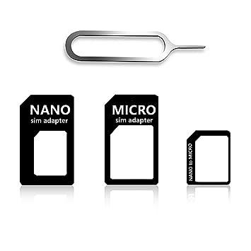 vonky Set 4 in 1 adaptador de tarjeta SIM (Nano + Micro + ...