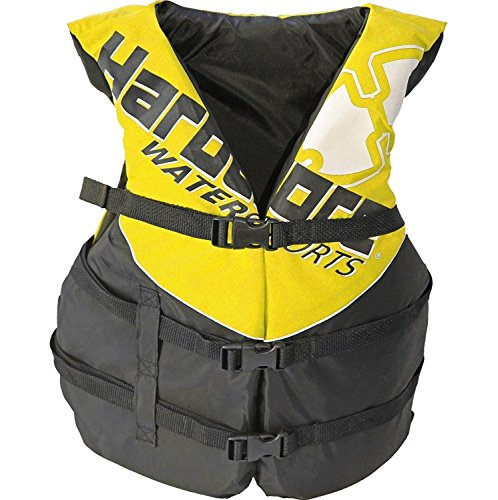 Hardcore Water Sports Adult Life Jacket Vest - US Coast Guard Approved Type 3 (Yellow Adult ()