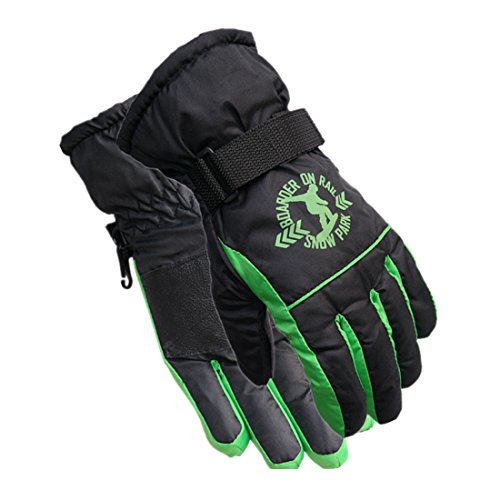 JJseason Child's Winter Gloves Fashion Outdoor Gloves Warm Waterproof Gloves Snowmobile Snowboard Ski Gloves Athletic Gloves Mittens, Suit for 7-12 Years Old