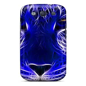 Hot Style Protective Case Cover For Galaxys3(wild Animals Blue Cheetah Cat Cats Jootix)