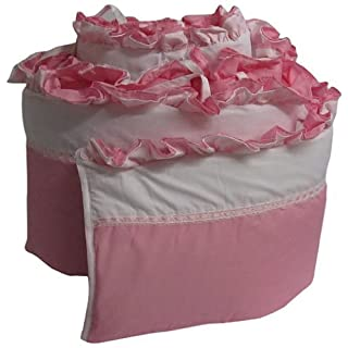 "Babykidsbargains Regal Cradle Bumper, Pink, 18"" x 36"""