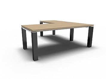 Winkelschreibtisch selber bauen  Chefschreibtisch JET EVO, Winkelschreibtisch, Design Arbeitszimmer ...