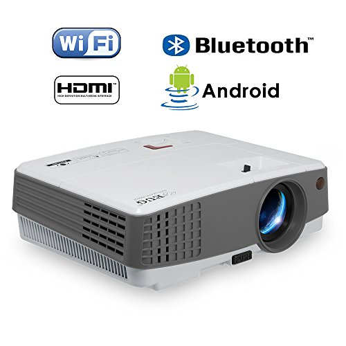 2018 Mini Lcd Led Smart WiFi Projector with Bluetooth 2600lu