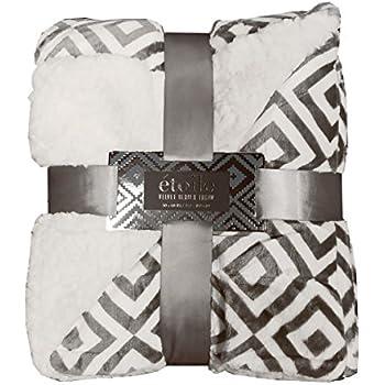Amazon ReLIVE Reversible Velvet Berber Throw Etoile 40x40 Stunning Etoile Throw Blanket