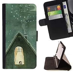 For HTC DESIRE 816 Case , Invierno famoso Catia Chien Núcleo- la tarjeta de Crédito Slots PU Funda de cuero Monedero caso cubierta de piel