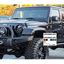 White set Decal sticker Compatible with Jeep Wrangler RUBICON Jk