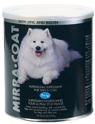 PetAg Dog Powder Coat Conditioner, 1-Pound (Mirra Coat Nutritional Supplement)