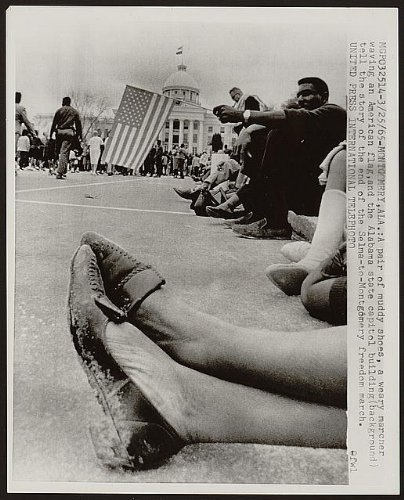 Infinite Photographs Photo: 1965-Muddy Shoes-Selma to Montgomery March, Alabama Size: 8x10 (Approximately)