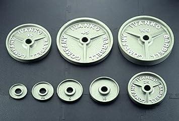 Ivanko 632.5 LB. Martillo mecanizado gris olímpico placa paquete Deal: Amazon.es: Deportes y aire libre