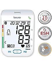 Beurer BM 77 Misuratore di Pressione da Braccio con Connessione Bluetooth, Indicatore del Valore a Riposo e Schermo XXL