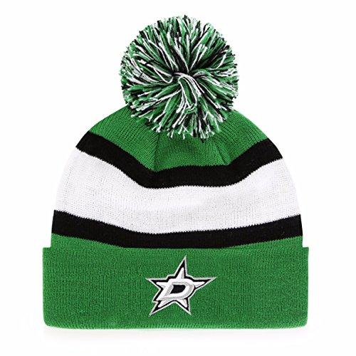 NHL Dallas Stars Rush Down OTS Cuff Knit Cap with Pom, Kelly, One Size ()