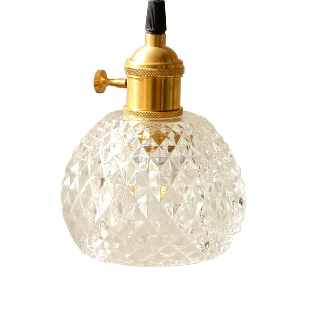 Brass Glass Chandelier - Nordic Retro Literary Restaurant Bar Table Bedside Personality Creative Japanese Style Lamps