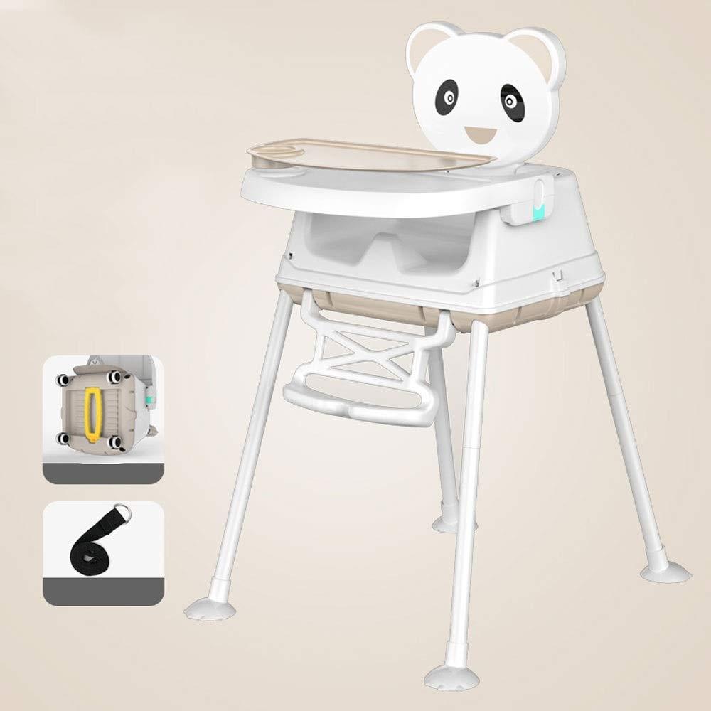ベビーハイチェア - 炭素鋼/食品グレードPP、6ヶ月 - 3歳の赤ちゃん多機能変換ポータブル防水防汚かわいいつや消し子供用ダイニングチェア - 4色オプション (色 : ベージュ)  ベージュ B07PHL1CMW