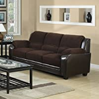 502811 Monika Stationary Sofa with Wood Feet by Coaster
