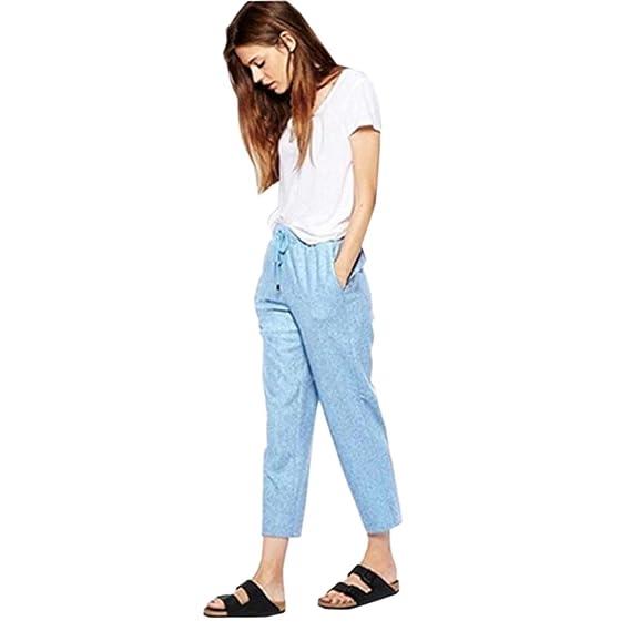 PAOLIAN Pantalones para Mujer Verano 2018 Casual Negocios Pantalones de  Vestir Sólido Fiesta Cintura Alta Palazzo ca9a22469c68