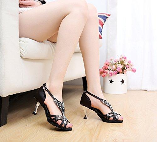 Minitoo , Damen Tanzschuhe, schwarz - schwarz - Größe: 36