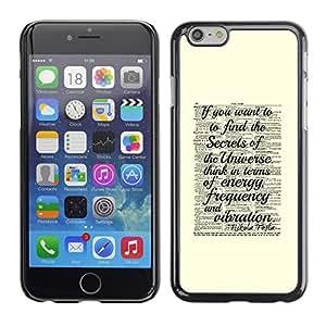 Secreto Universo Ciencia Vintage Amarillo- Metal de aluminio y de plástico duro Caja del teléfono - Negro - iPhone 6