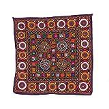 Gujarati chakla Animal Patchwork old kutch Table Cloth Wall Hanging(JTH-CHAKD-142)