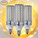 E12 LED Bulbs, 12W LED Candelabra bulb 100 Watt Equivalent, 1200lm, Decorative Candle Base E12 Non-Dimmable LED Chandelier Bulbs, Daylight White 5000K LED Lamp, Pack of 3