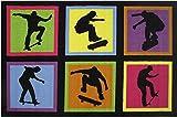 Fun Rugs Kids Home Decorative Area Rug Nylon Skateboarding Fun 19'' x 29''